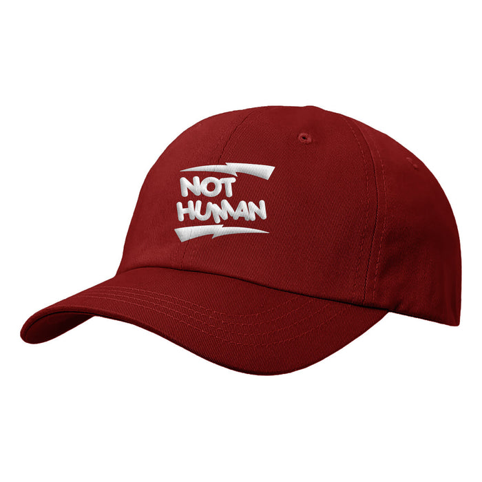 Not Human, BOLT STRIKE DAD HAT - Hat, urban graphic streetwear clothing