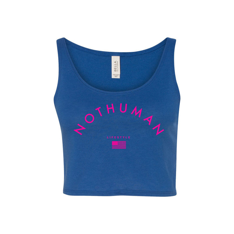 Not Human, LIFESTYLE NECCESITY LADIES CROP TANK - Crop Tank, urban graphic streetwear clothing