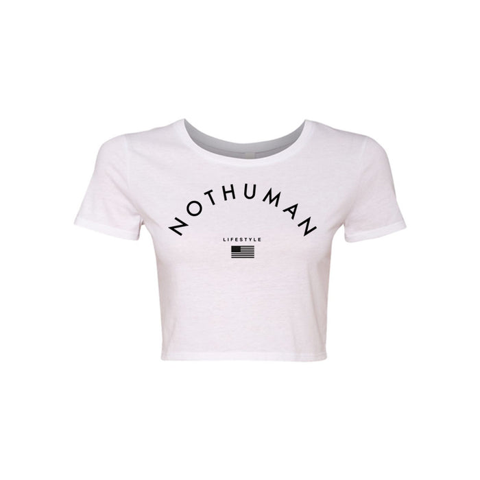 Not Human, LIFESTYLE LADIES CROP TOP - Crop Top, urban graphic streetwear clothing