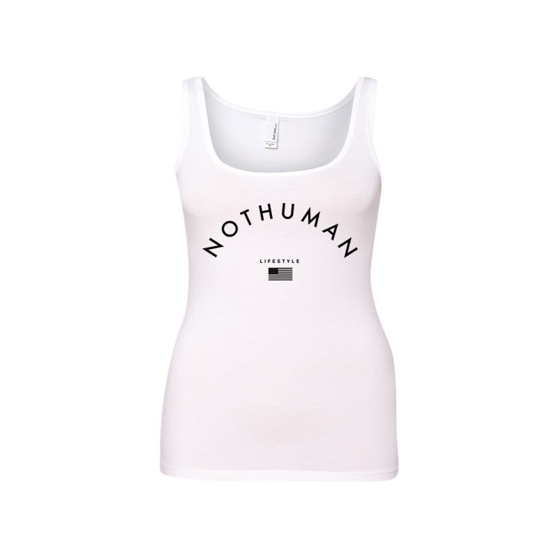 Not Human, LIFESTYLE NECCESITY LADIES TANK TOP - TANK TOP, urban graphic streetwear clothing