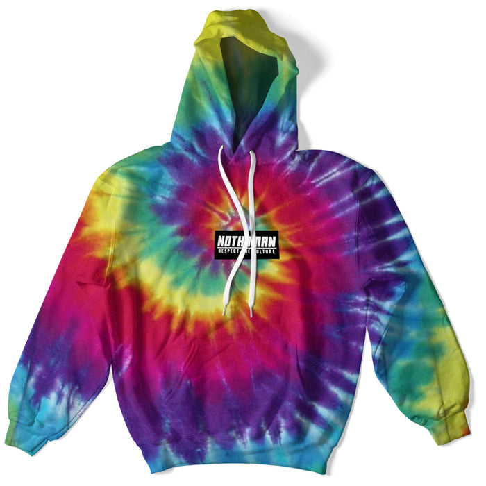 Not Human, Tie Dye Respect the Culture Patch hoodie - Hoodie, urban graphic streetwear clothing