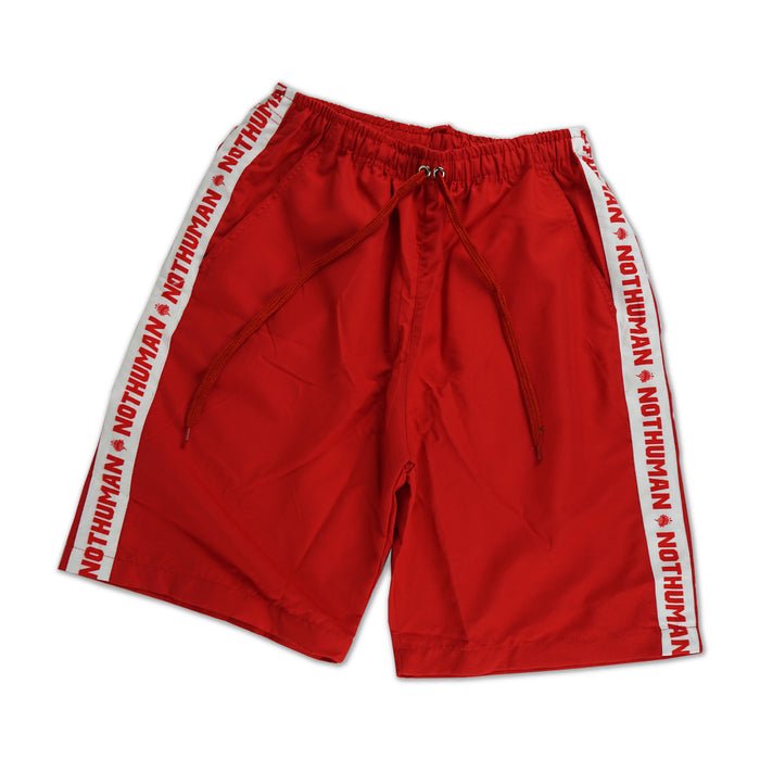NOT HUMAN CLOTHING, Not Human Breaker Shorts - , urban graphic streetwear clothing