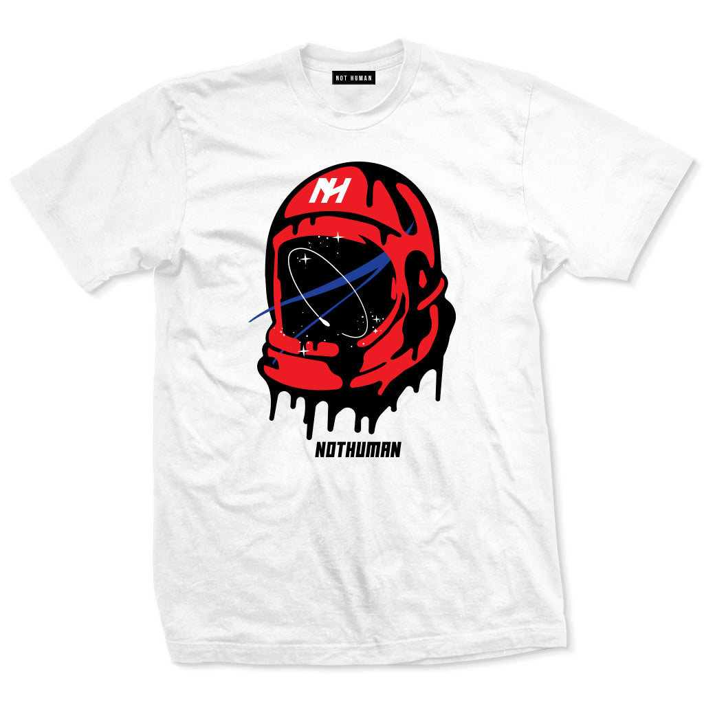 Not Human, Space Man Helmet Tshirt - TShirt, urban graphic streetwear clothing