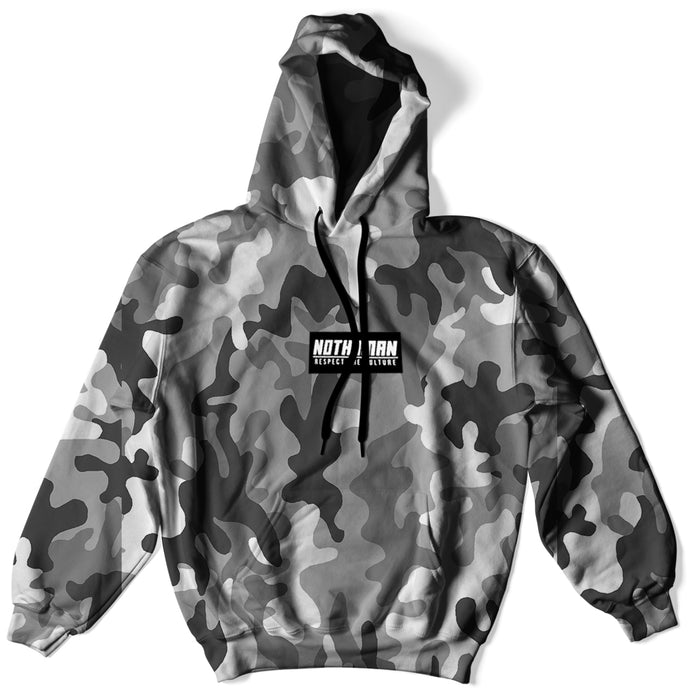 Not Human, Camo Respect the Culture Hoodie - Hoodie, urban graphic streetwear clothing