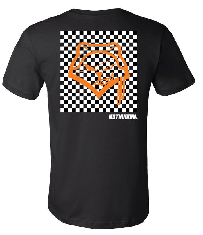 Not Human, Checkered Fox Not Human Tshirt - TShirt, urban graphic streetwear clothing