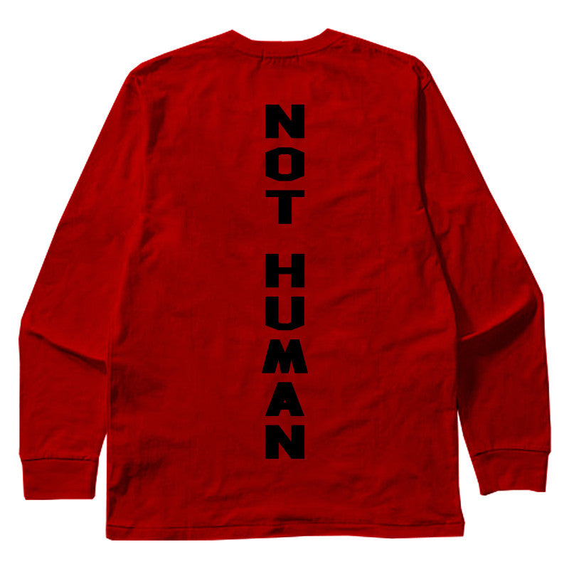 Not Human, NH YANKEE LONGSLEEVE - LongSleeve, urban graphic streetwear clothing