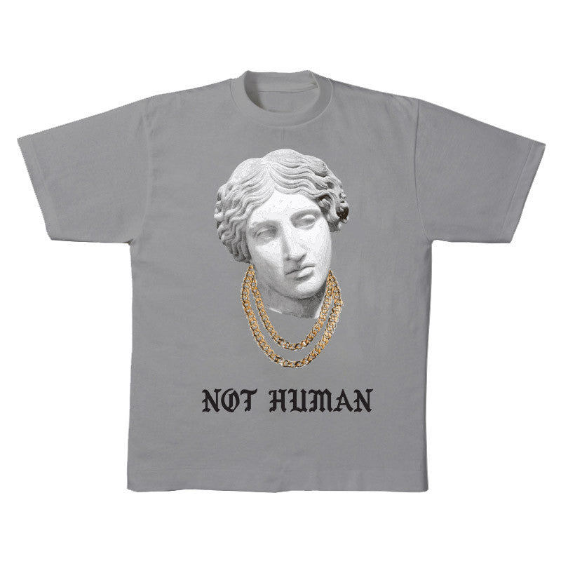 Not Human, CUBAN-STATUE TEE - TShirt, urban graphic streetwear clothing