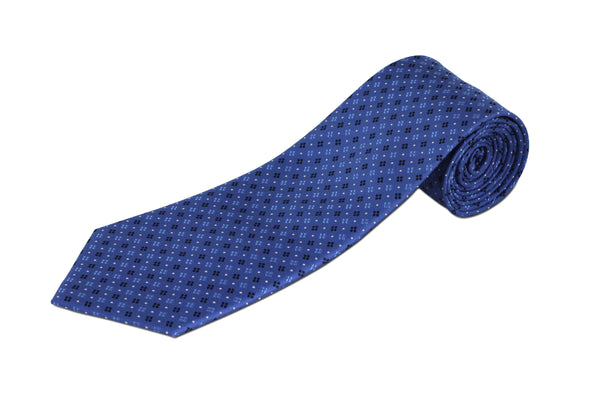 100% Silk Extra Long Tie with Geometric Pattern for Big and Tall Men