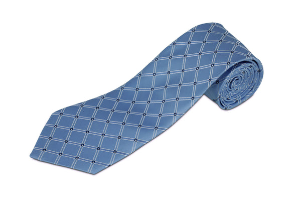100% Silk Extra Long Diamond Patterned Tie for Big and Tall Men