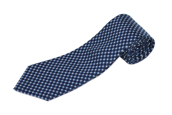 100% Silk Extra Long Tie with Waffle Pattern for Big and Tall Men