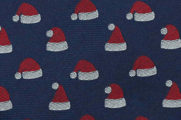 100% Silk Extra Long Tie with Santa Claus Hat Christmas Holiday for Big and Tall Men