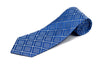 100% Silk Extra Long Tie - Square Patterned Tie for Big and Tall Men
