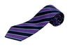 100% Silk Extra Long Tie with Wide Stripes for Big and Tall Men