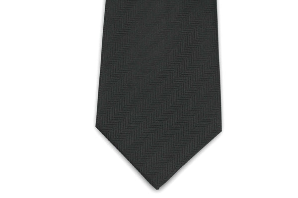 100% Silk Extra Long Solid Color Herringbone Tie for Big and Tall Men