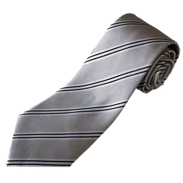 100% Silk Extra Long Tie with Triple Stripes for Big and Tall Men