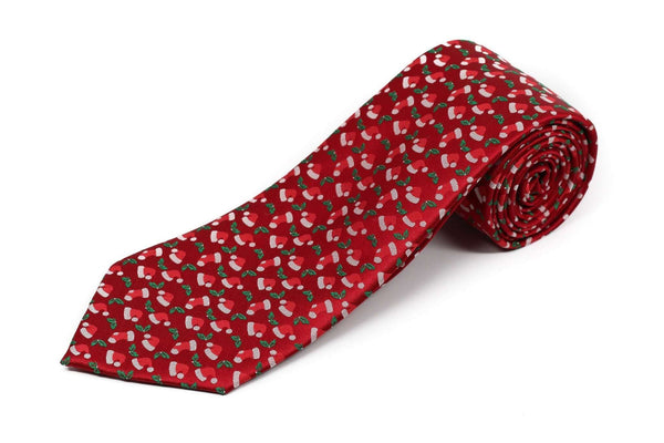 Extra Long Ties - 100% Silk Extra Long Christmas Stocking Santa Tie