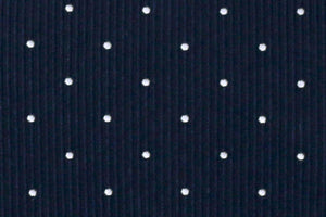 Extra Long Ties - 100% Silk Extra Long Navy Tie With Dots