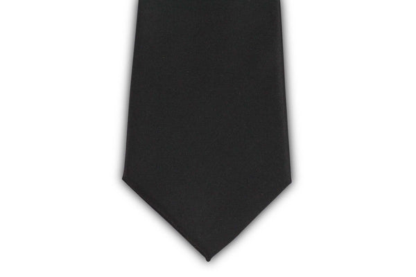 Extra Long Ties - 100% Silk Extra Long Solid Black Tie