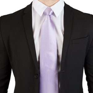 Extra Long Ties - 100% Silk Extra Long Solid Lavender Tie