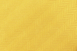 Extra Long Ties - 100% Silk Extra Long Solid Yellow Herringbone Necktie