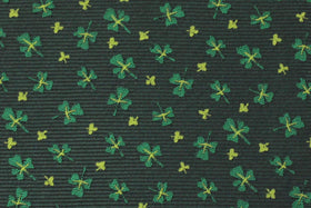 100% Silk Extra Long St. Patrick's Day Shamrock Tie for Big and Tall Men