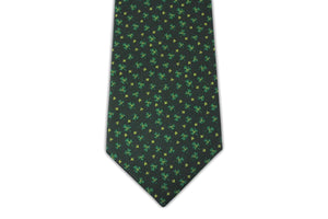 Extra Long Ties - 100% Silk Extra Long St. Patrick's Day Shamrock Tie