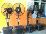kipas angin embun mist water fan