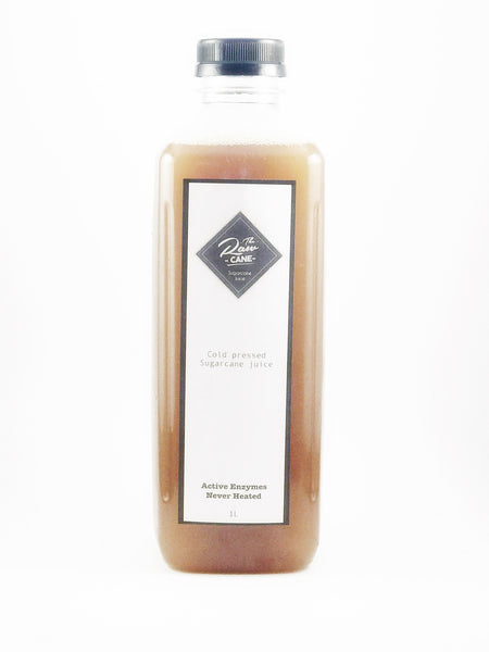 1L bottle of cold pressed, pure, 100% Australian sugarcane juice.