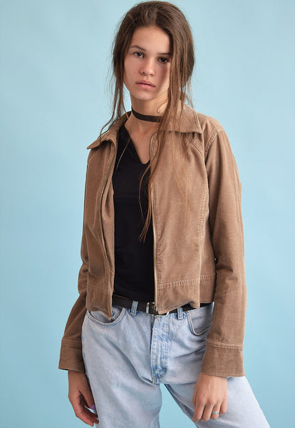 90's retro corduroy festival neutral jacket top