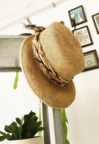 50's retro Boho festival Paris chic summer straw hat