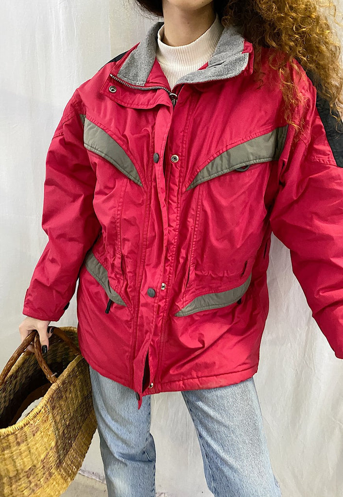Vintage 90s mountain wear oversized puffer ski jacket coat