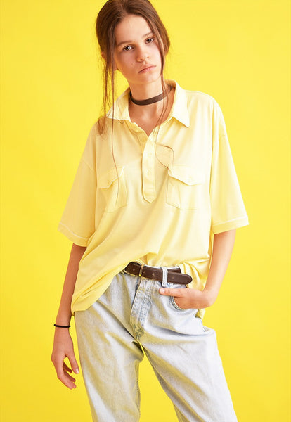 90's retro pastel oversized t-shirt polo top tee