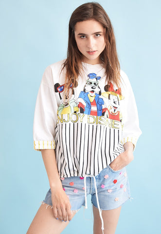 90's retro novelty print neutral oversized sweatshirt top