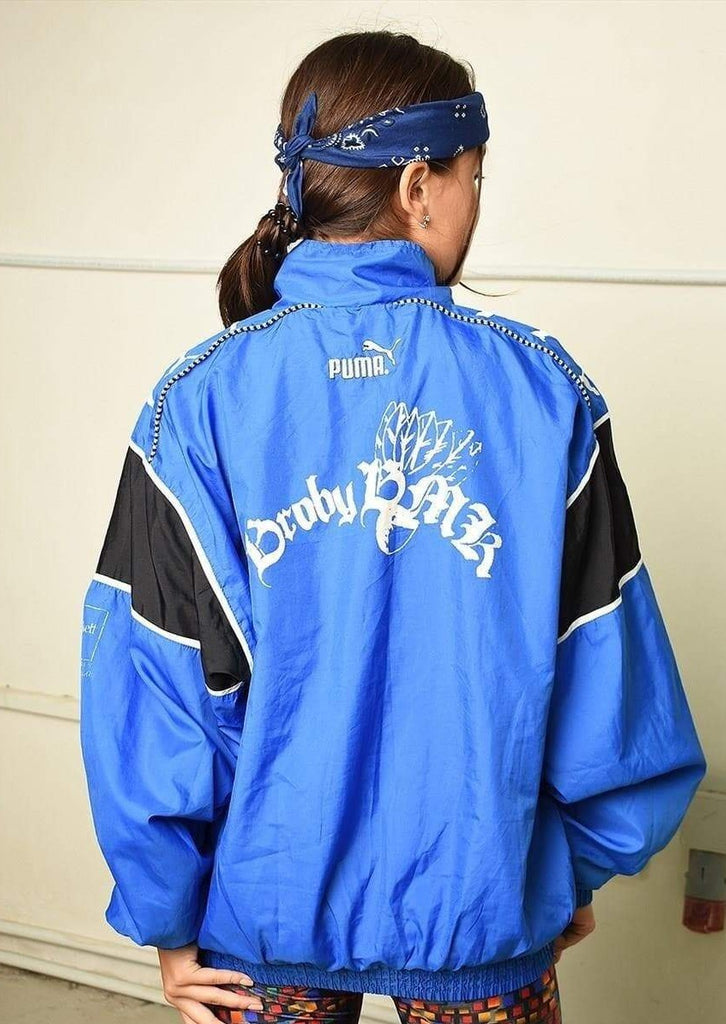 Y2K retro PUMA athleisure sports bomber jacket
