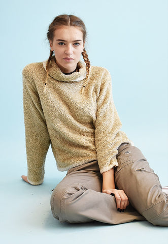 Y2K retro neutral fluffy teen knit jumper