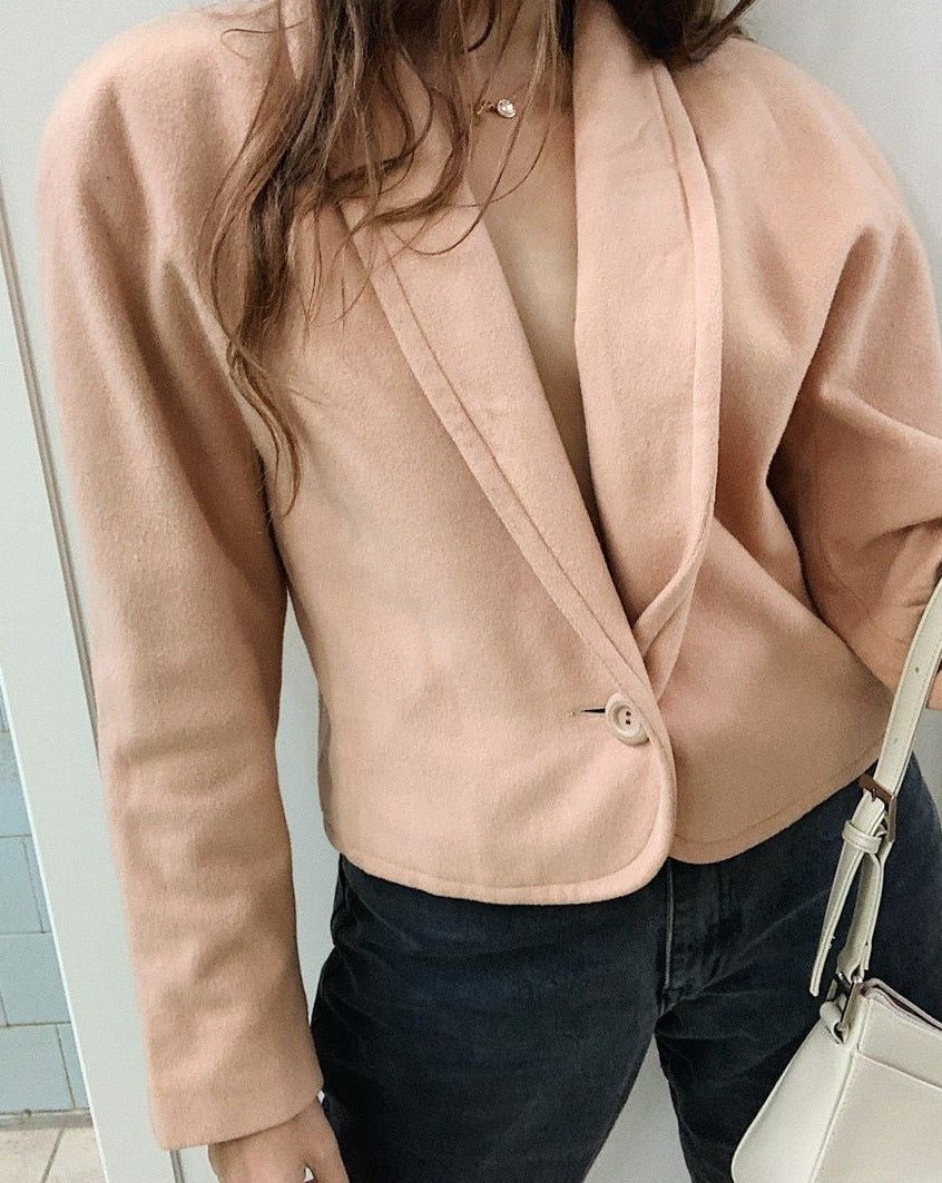 Vintage 80s Peachy Peachy thick outwear cropped jacket