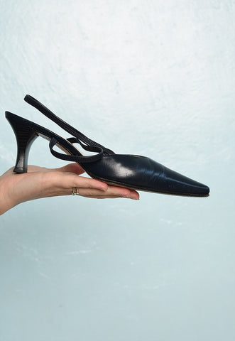 Vintage 90s PETER KAISER minimalist leather pumps heels shoe