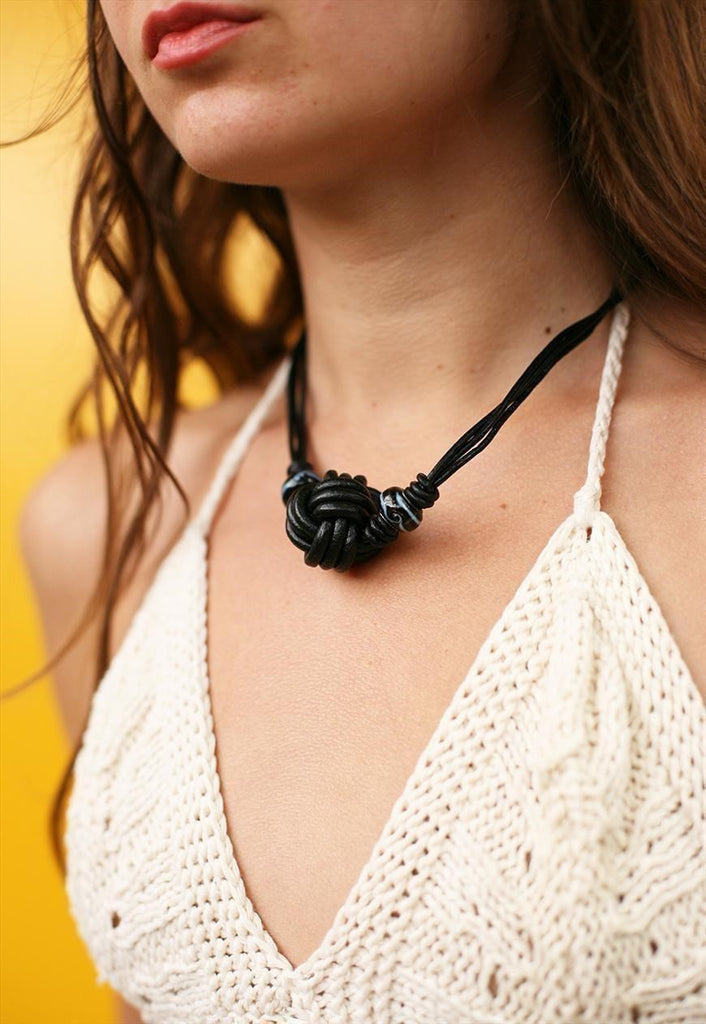 90's retro festival rope choker style necklace