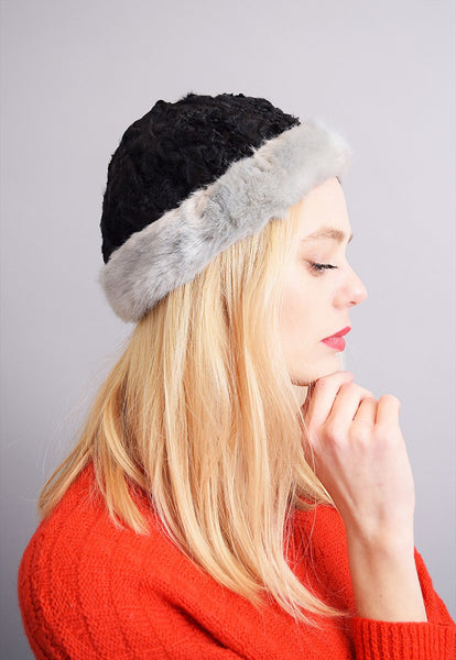 Stunning 60's faux fur cloche hat that doesn't cover ears