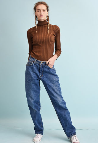 90's retro LEE regular waist stonewash denim jeans