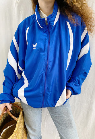 90s ERIMA sports windbreaker tracksuit jacket with monogram