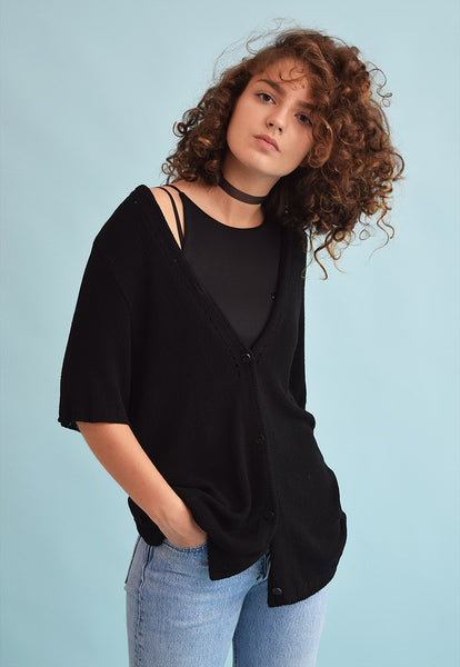 90's retro oversized Moms knit top blouse