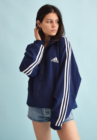 90's retro ADIDAS athleisure sports bomber shell jacket top