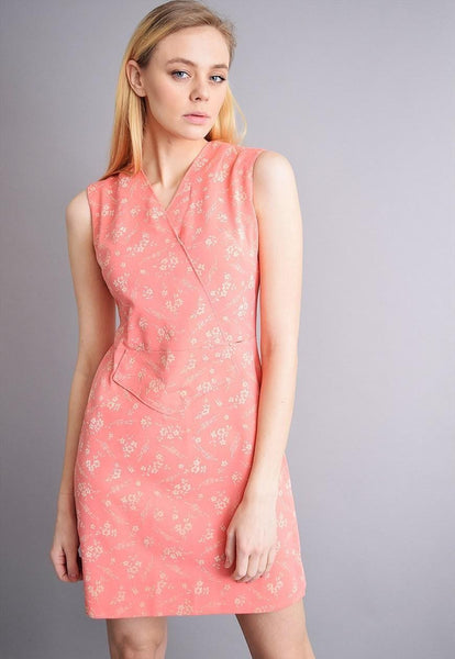 Cute vintage 60's retro Mod floral mini elegant dress