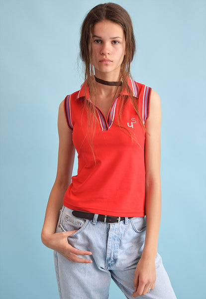 90's retro athleisure sports sleeveless top