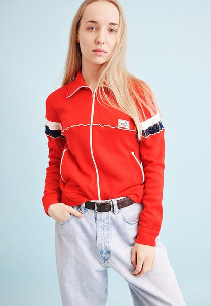 Vintage 70's retro athleisure sports tracksuit jacket top