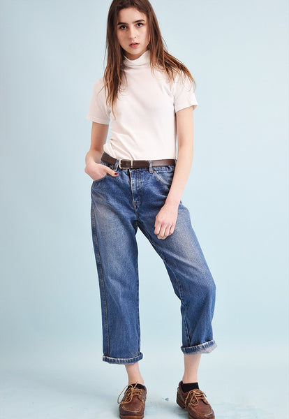90's CHINO stonewash oversized regular waist denim jeans