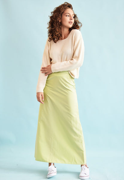 90's retro pastel shimmer A line maxi skirt