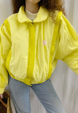Vintage 80s mountain wear oversized ski bomber jacket coat