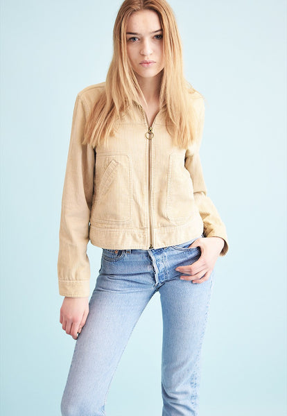 90's retro corduroy s.Oliver neutral teen jacket top